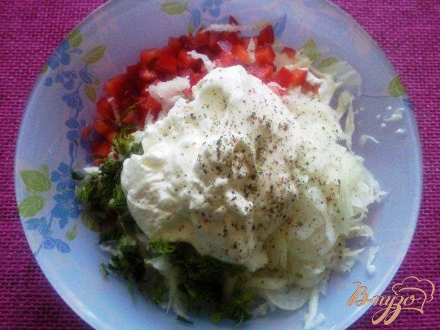 Салат из кольраби и сладкого перца