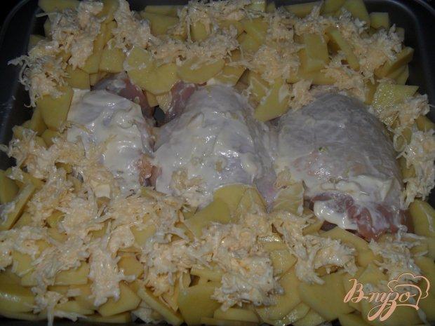Курица в картофельном кольце