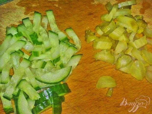 Салат из редьки с грибами