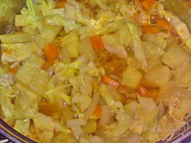 Картофель в соусе с овощами