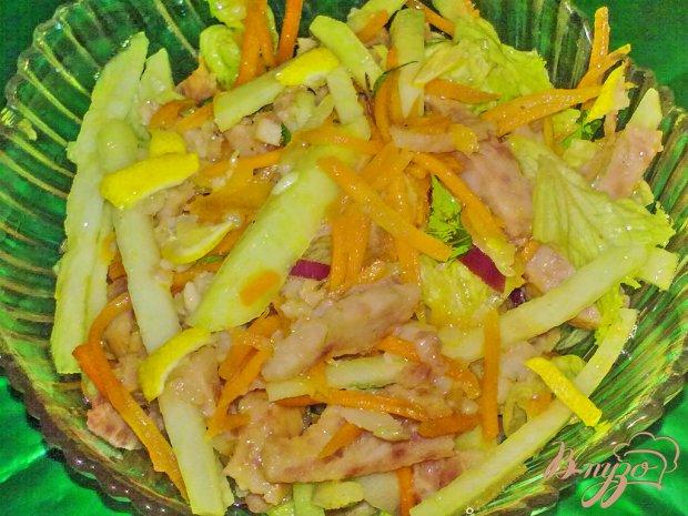 """Салат из кольраби """"Цветной"""""""