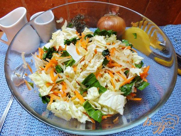 Салат со шпинатом и дайконом