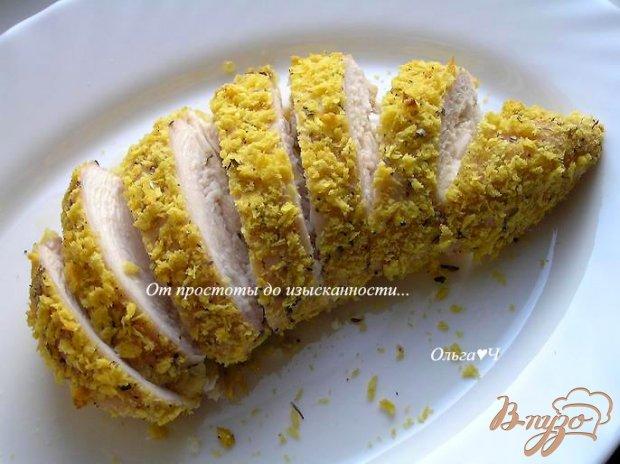 """Куриные грудки в панировке """"Темпура"""" с орегано"""