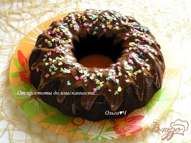 Праздничный шоколадный манник