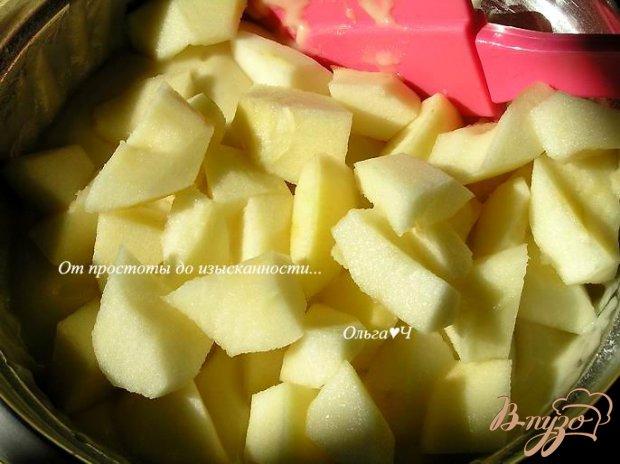 Постный кекс с яблоками