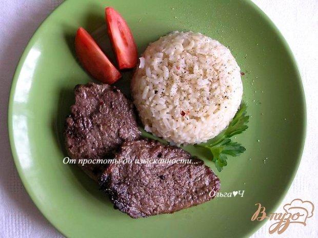 Отбивные из телятины с рисом