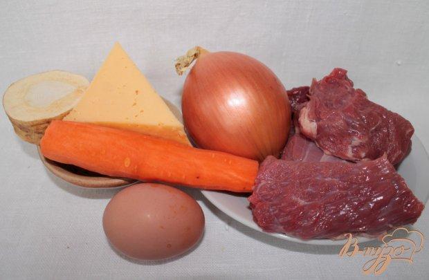 Говяжьи котлеты с овощами и сыром