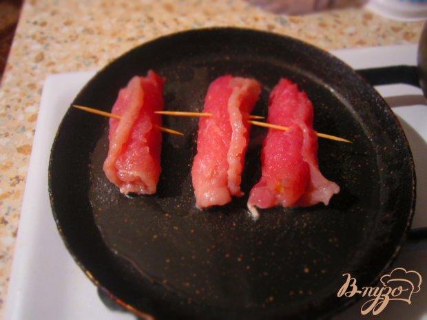 Свиные рулетики с сыром
