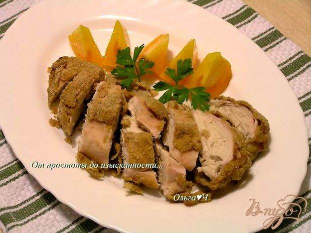 Куриные грудки в хрустящей панировке с итальянскими травами
