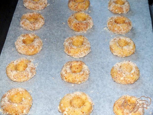 Печенье ореховое с абрикосовым джемом