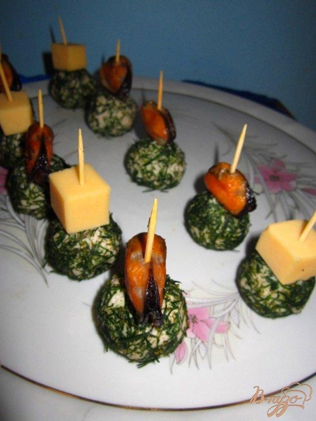 """Закуска """"Рисовые шарики с мидиями"""""""