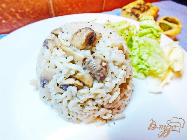Рис с грибами и соевым соусом
