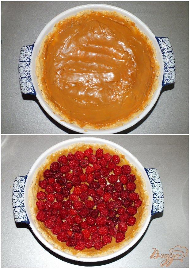 Ароматный пирог с малиной