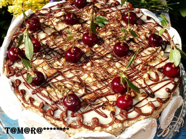 Торт с вишней из мультискороварки