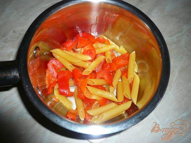Густой сырный суп с макаронами и болгарским перцем
