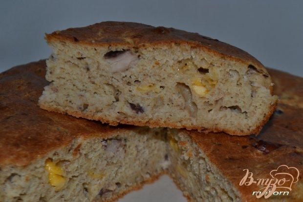 Пирог из цельнозерновой муки с рыбой и сыром