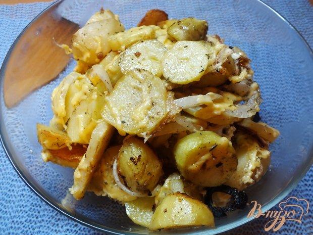 Острый картофель с тимьяном под сыром