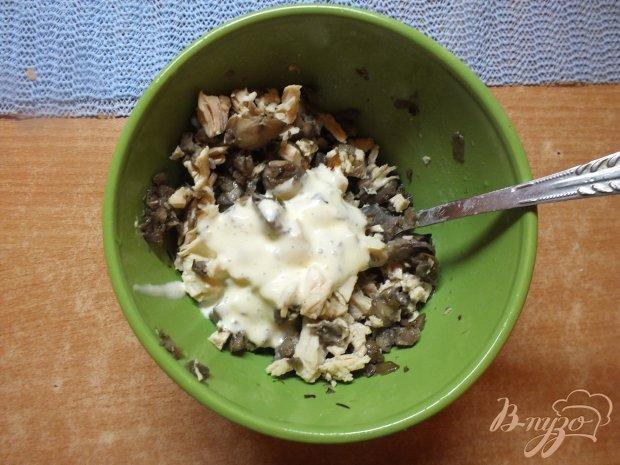 Пирожки с грибами и крурицей из лаваша