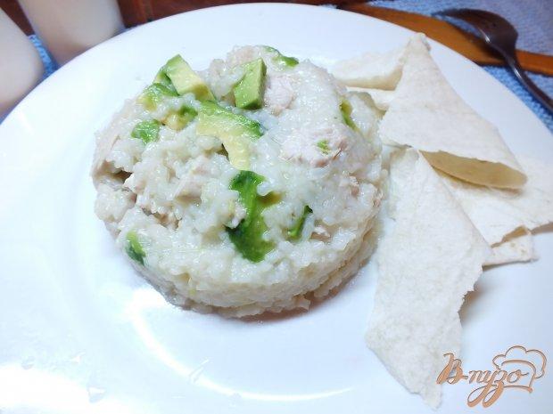 Рис с авокадо и отварной индейкой