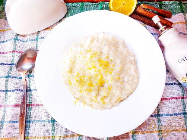 Имбирный рис с лимоном и корицей