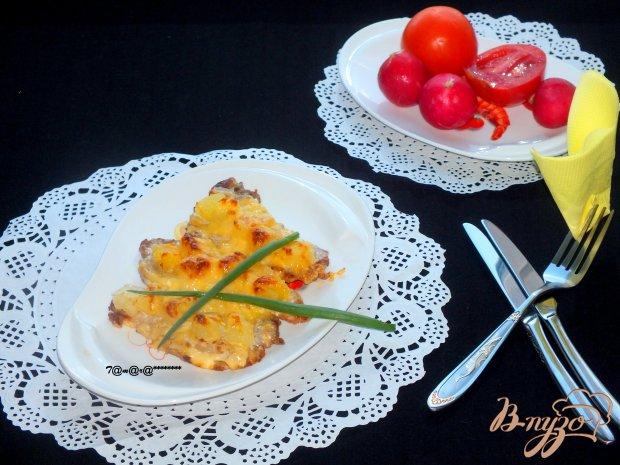 Отбивные из свинины с ананасом и сыром
