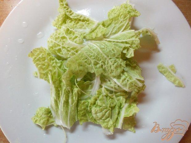 Салат из куриных сердечек с гренками