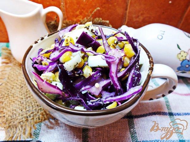 Салат из фиолетовой капусты с яйцом