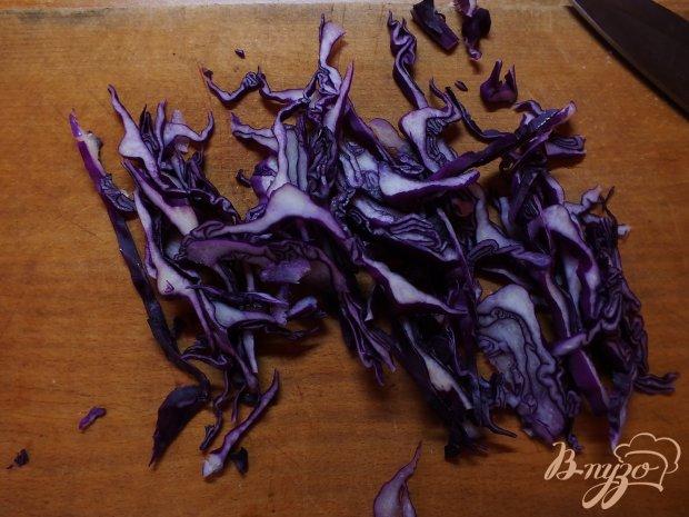 Салат из яблок с фиолетовой капустой