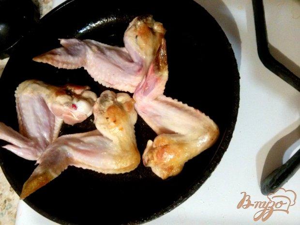 Куриные крылья в сливочно-имбирном соусе