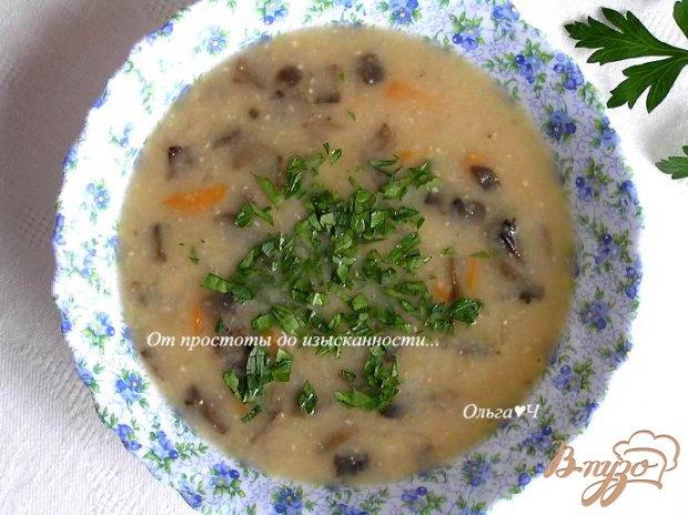 Фасолевый суп-пюре с грибами