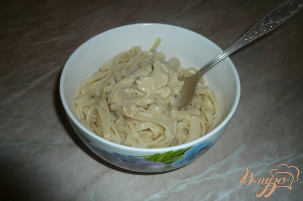 Макароны с хумусом