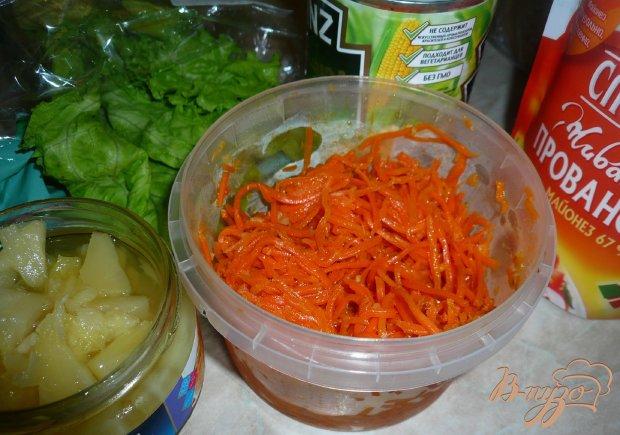 Пикантный салатик за пять минут