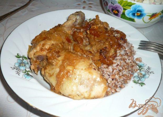 Курица в медово-луковом соусе
