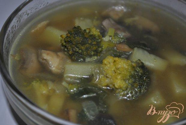 Грибной суп с брокколи