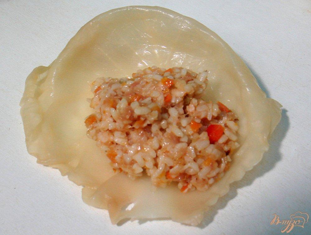 Фото приготовление рецепта: Голубцы с мясом, рисом и овощами шаг №7