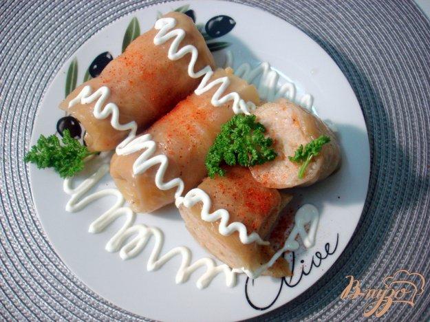 фото рецепта: Голубцы с мясом, рисом и овощами