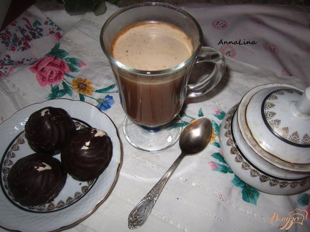 Фото приготовление рецепта: Кофе с какао шаг №4
