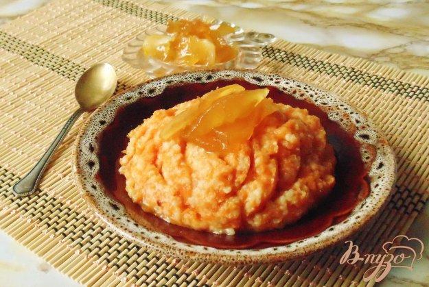 фото рецепта: Тыквенная каша с пшеном и яблочным вареньем