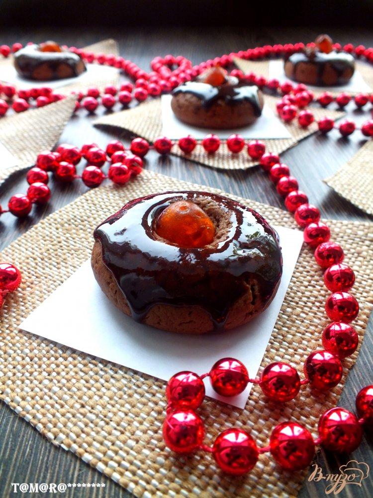 Фото приготовление рецепта: Шоколадное печенье с кумкватами шаг №8
