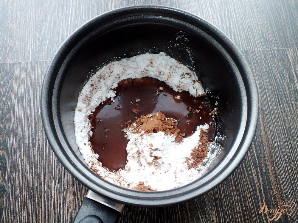 Фото приготовление рецепта: Шоколадное печенье с кумкватами шаг №7