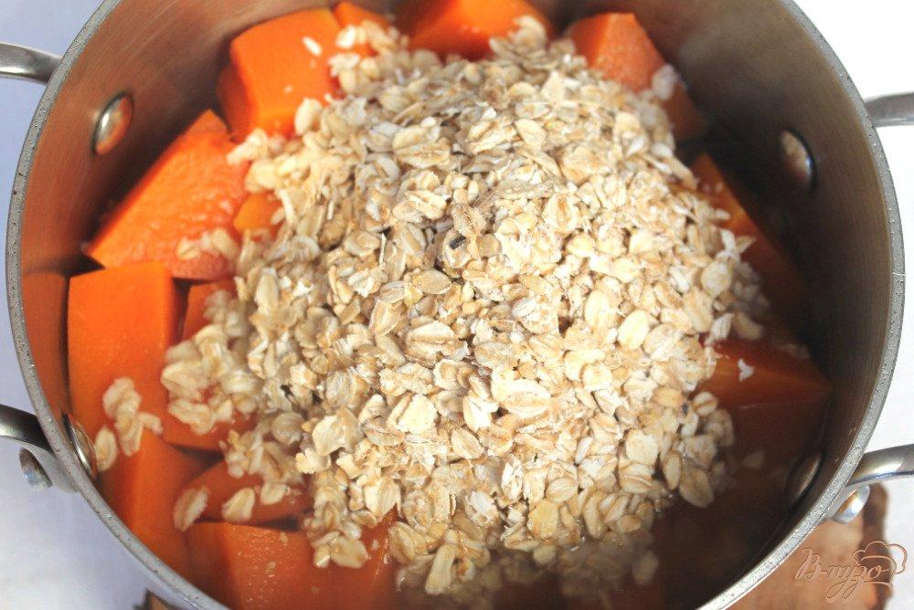 Фото приготовление рецепта: Тыквенная каша с овсяной крупой шаг №2
