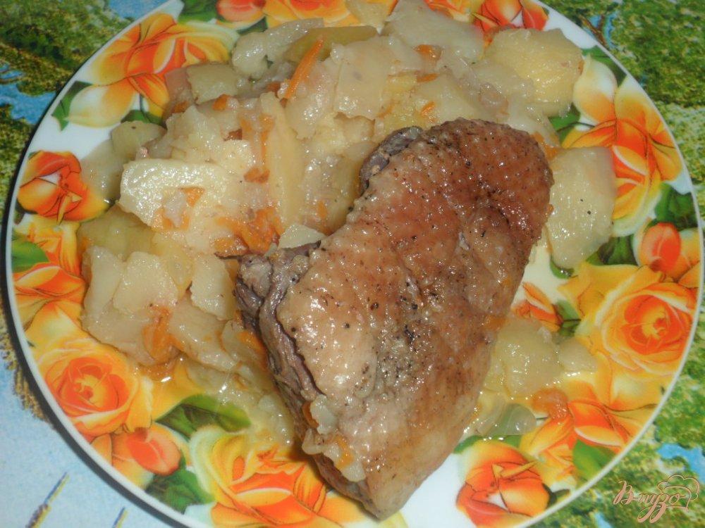тушеный гусь с картошкой рецепт с фото