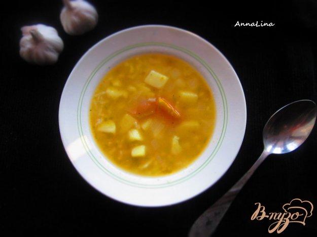 фото рецепта: Рисовый суп с тыквой