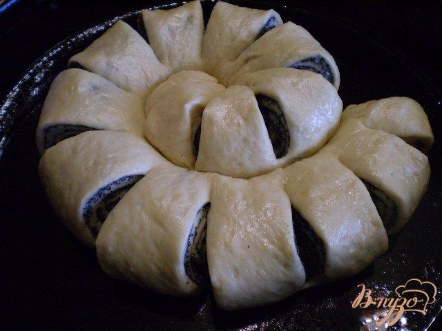 Фото приготовление рецепта: Булочка-улитка с маком шаг №14