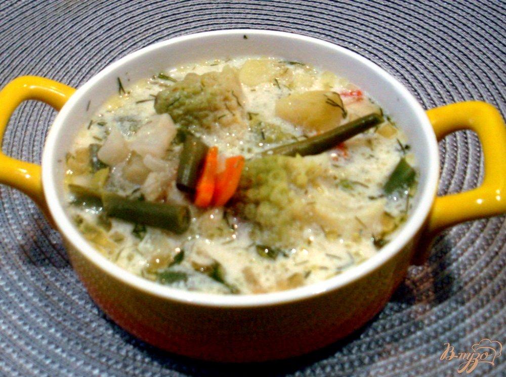 Фото приготовление рецепта: Суп из четырёх видов капусты шаг №6