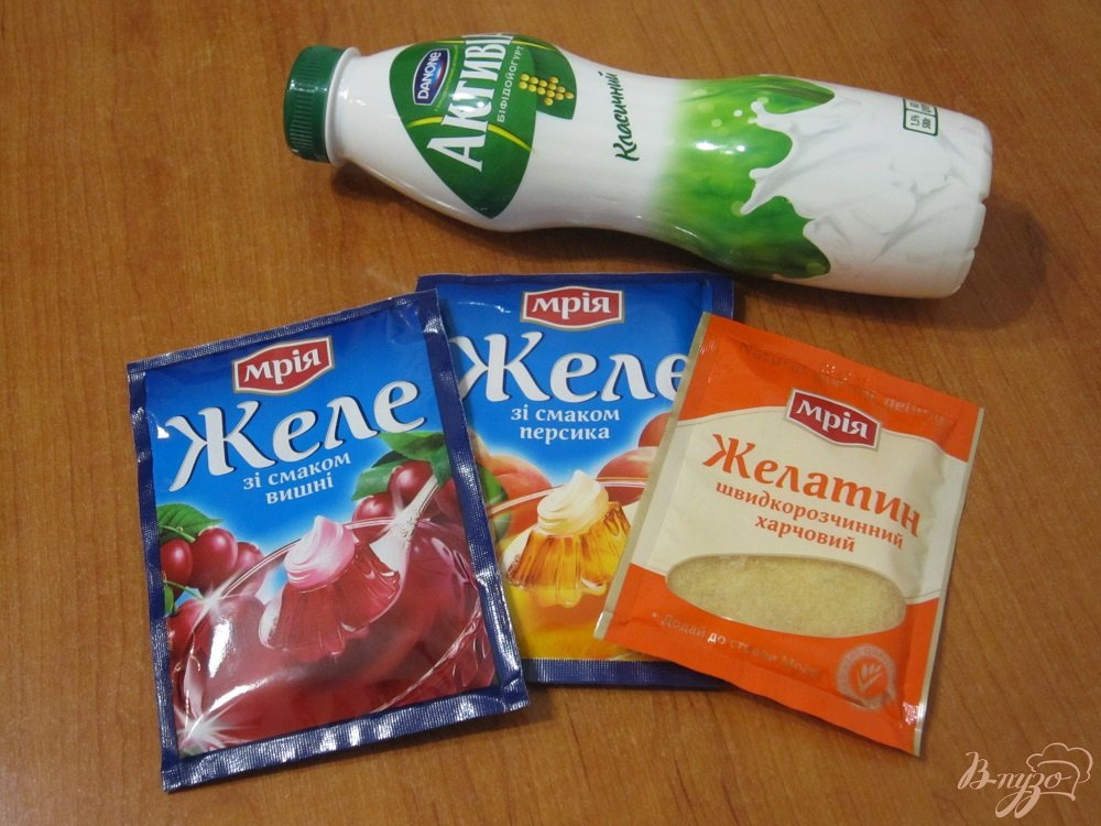 Фото приготовление рецепта: Фруктово-йогуртовое желе шаг №1
