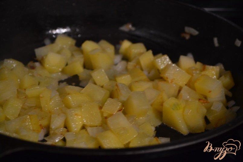 Фото приготовление рецепта: Густой овощной суп на курином бульоне шаг №2