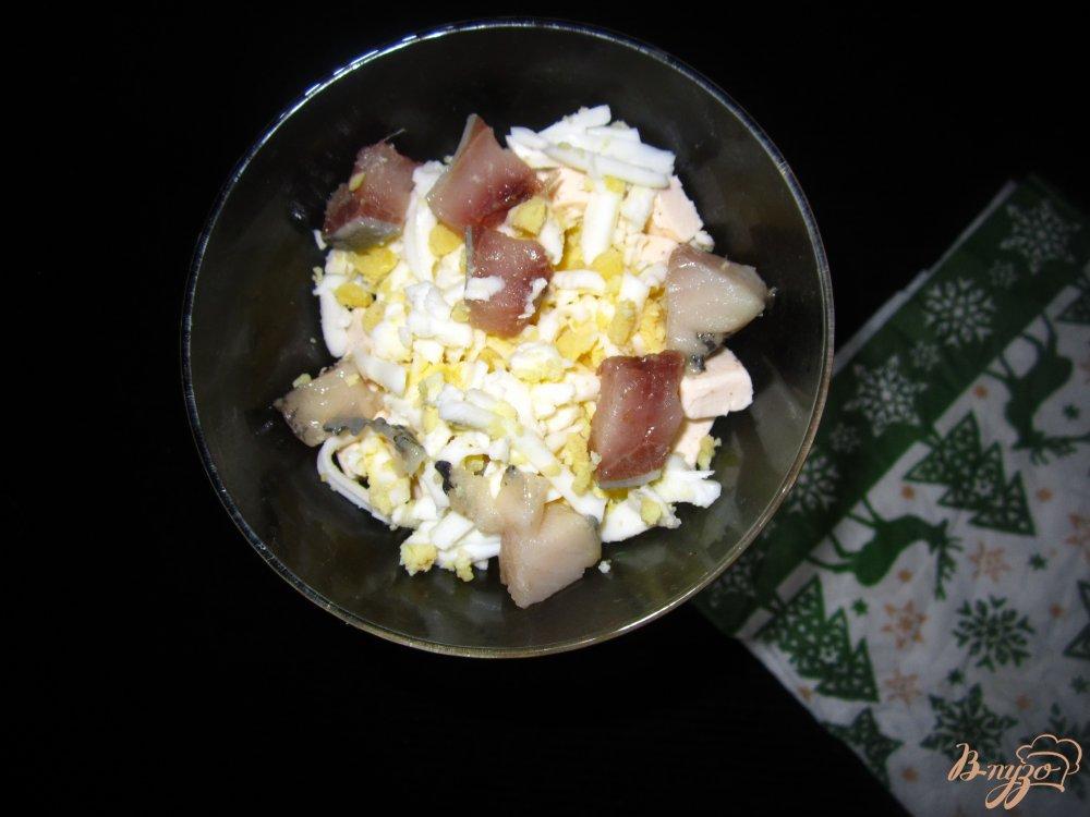 Фото приготовление рецепта: Коктель-закуска с селедкой шаг №4