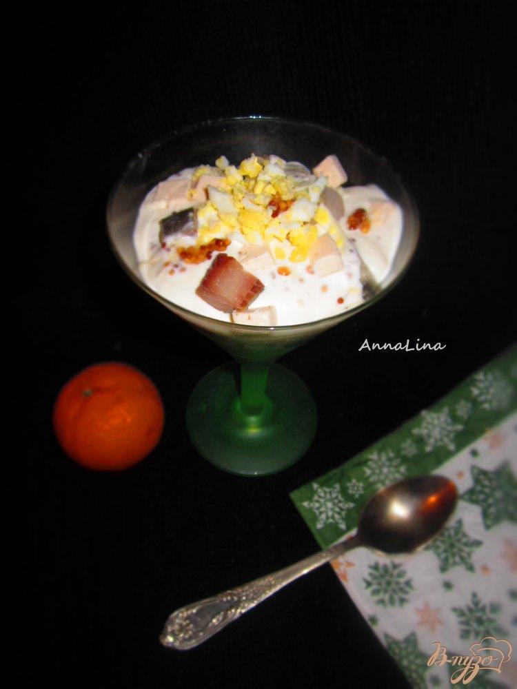 Фото приготовление рецепта: Коктель-закуска с селедкой шаг №6