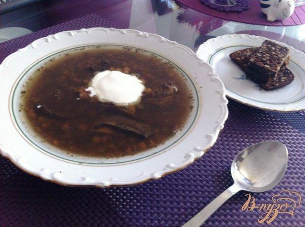 фото рецепта: Суп из чечевицы с грибами